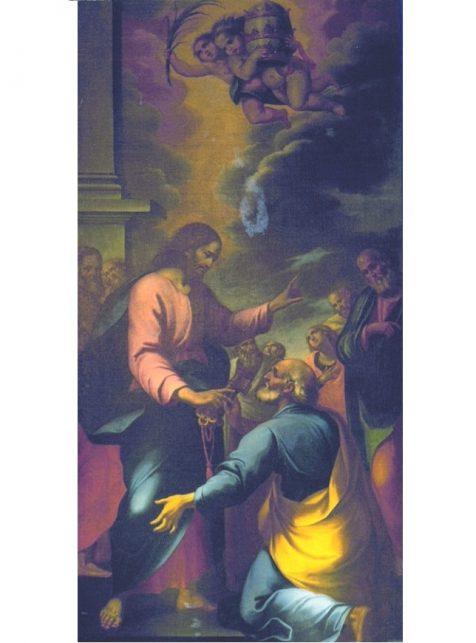 Giuseppe-Vasconio- s-Pietro-riceve-le-chiavi-s-maria-in-trastevere